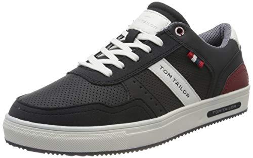 TOM TAILOR Herren 8082601 Sneaker, Blau (Navy 00003), 41 EU