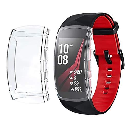 LISUHONG Ntd AYC for Samsung Gear Ajuste 2 de la Caja de Reloj Chapado de TPU Pro Cobertura Total (Negro) (Color : Transparent)