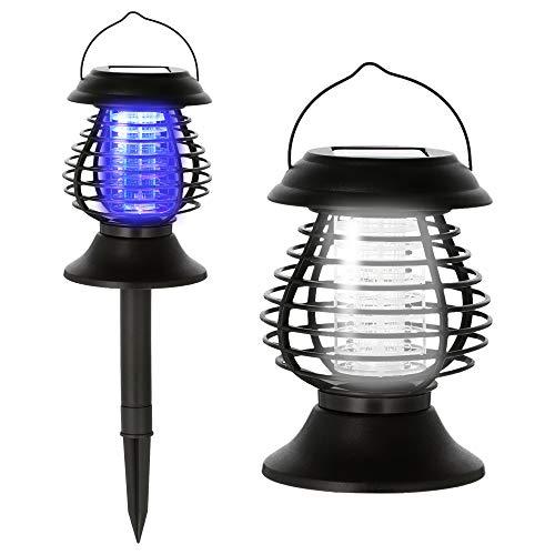 Cepewa Solar LED Dekoleuchte Moskito Killer Lampe Insektenvernichter Leuchte 4in1 mit Tageslichtsensor
