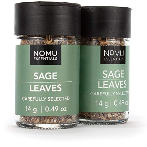 NOMU Essentials Dried Sage Leaves - Rubbed (0.98 oz | 2-pack) |...