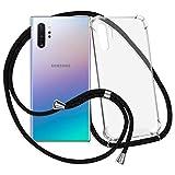 mtb more energy® Handykette kompatibel mit Samsung Galaxy Note 10 Plus, Note 10+ (SM-N975, 6.8'') - schwarz - Befestigung unten - Smartphone Hülle zum Umhängen