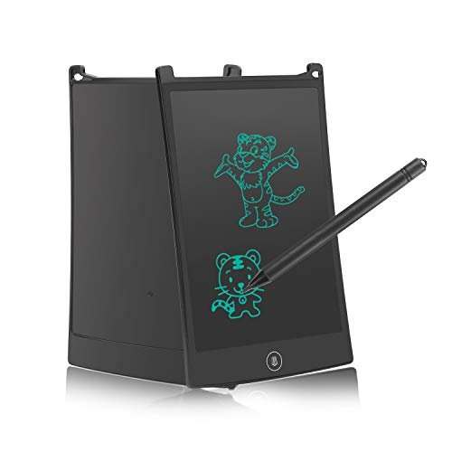 LCD Writing Tablet with Color Lines, Electronic Drawing Board Digital Notepad-Reusable and Erasable Ewriter, 8.5 inch Portable Notebook for Children/Kids and Office