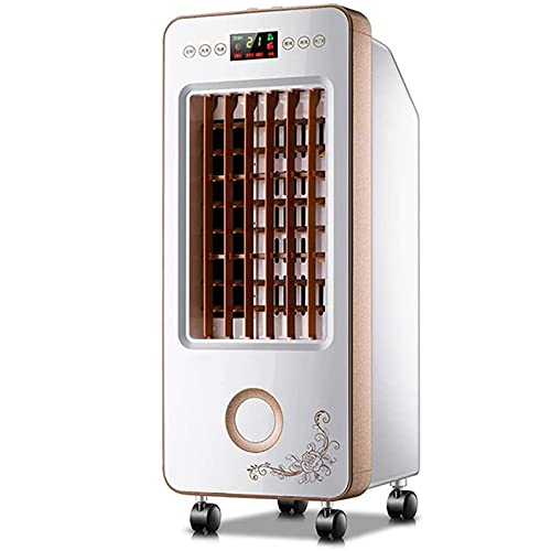 Air Conditioner Fan 3 In 1 Portable Air Conditioner , Low Noise Evaporator Cooling Fan Humidifier,3 Speed Adjustable12H Timer&Remote Control With 6 L Large Water Tank 2 Ice Crystals For Home Bedroom O