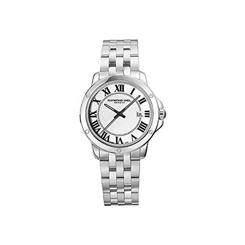 Raymond Weil Herren Analog Quarz Uhr mit Edelstahl Armband 5591-ST-00300