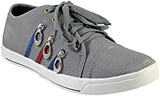 Stylish Silver Canvas Shoes With less By MarcoUno