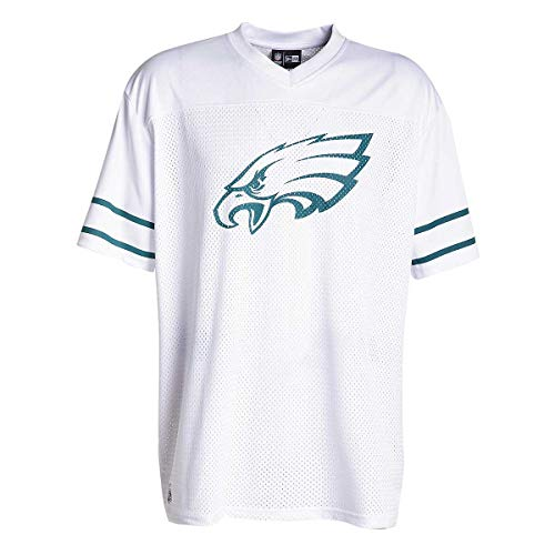 A NEW ERA NFL Team Logo Oversized Tee Phieag T-Shirt Philadelphia Eagles, Herren L weiß