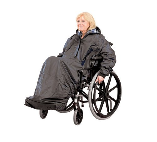 Unlined Wheelchair Mac with Sleeves (30% Polyster, 70% PVC)