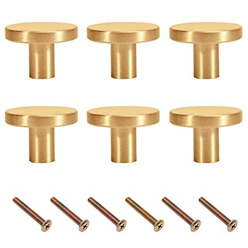 Pomos y Tiradores de Muebles,6 Piezas PuertasPerillas de Gabinete Redondas,pomos para cajones Armarios de Cocina/Cajones de Comodas /Aparador/Armario