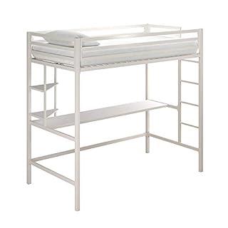Novogratz 4370129N Maxwell Metal Twin Loft Desk & Shelves, White Bunk Beds, (B07TNWGVNR) | Amazon price tracker / tracking, Amazon price history charts, Amazon price watches, Amazon price drop alerts