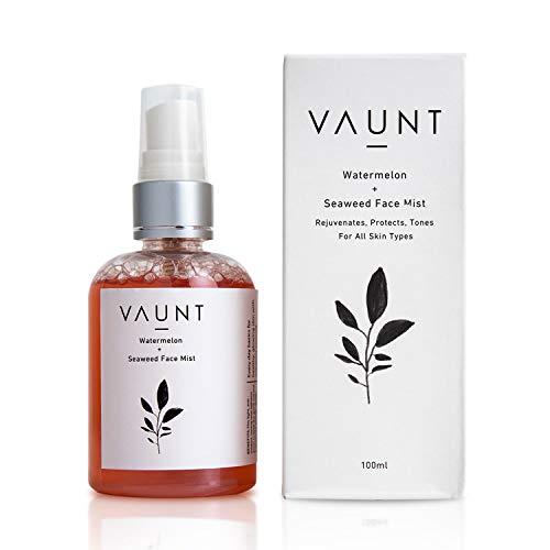 VAUNT Skincare Watermelon + Seaweed Face Mist (100ml)   All Skin Types   Hydrating & Toning   Rejuvenate Skin   Tighten Pores   Anti-oxidant Properties   Use anytime   Natural, Vegan, Cruelty-free