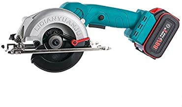 Elikliv Mini sierra circular compacta de 750 W con 1 batería y 1 cargador para cortar madera, tubo de PVC, baldosas.