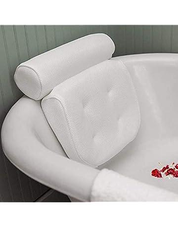 AODOOR con 6 ventose e tecnologia 3D poggiatesta bianco cuscino per vasca da bagno per vasca da bagno Cuscino per vasca da bagno cuscino per vasca idromassaggio