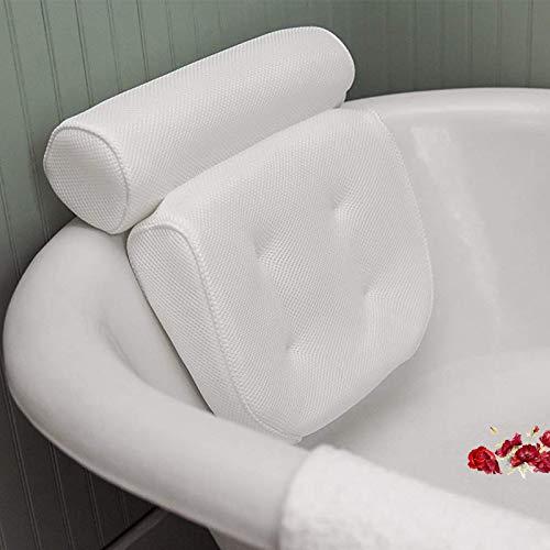 Littleprins Badewannenkissen Badewanne Nackenkissen mit Saugnäpfen Home Spa Kopfkissen zur Entspannung schnelltrocknend