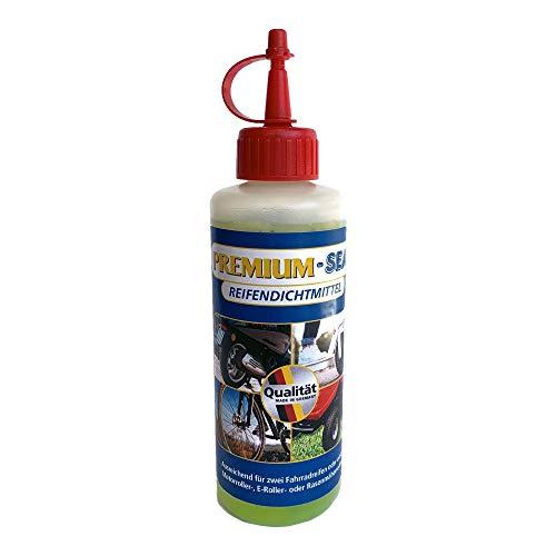 Nachfüllflasche Premium-Seal Repair Set 200ml, Reifendichtmittel für Fahrrad, Motoroller, E-Roller, Rasenmäher Reparatur