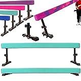 MARFULA 8 Feet Gymnastics Adjustable Balance Beam Gymnastics Training Practice Equipment for Kids Home Use