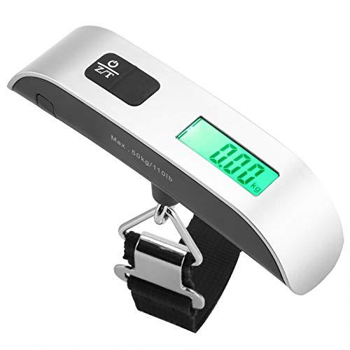 BWLZSP Balanzas Colgantes electrónicas Digitales LCD de tamaño pequeño Gancho portátil Que Pesa la Carga de Equilibrio 50 kg, balanza de Bolsillo Balanza de Equipaje Digital ZM414