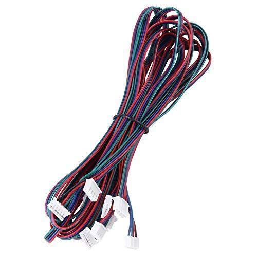 Akozon paso a paso conectores de cable cable de motor paso a paso 5pcs PH2.0-XH2.54 hembra-hembra conector de cable para Nema16 Nema17 Motor
