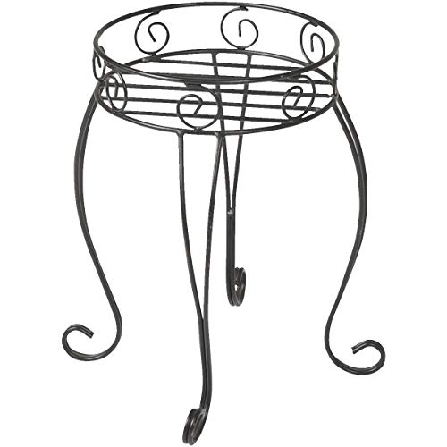 Sim Supply, Inc. Best Garden Black Steel 21 in. H. Plant Stand - 1 Each