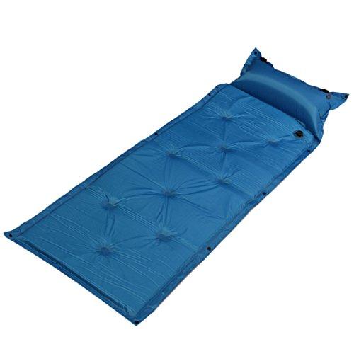 AMAIRS Self-Inflating Camping Pad, Camping Sleeping Pad Mat Inflatable Air Mattresses Outdoor Mat Ultralight Cushion with Pillow Hiking Trekking Mat,Blue