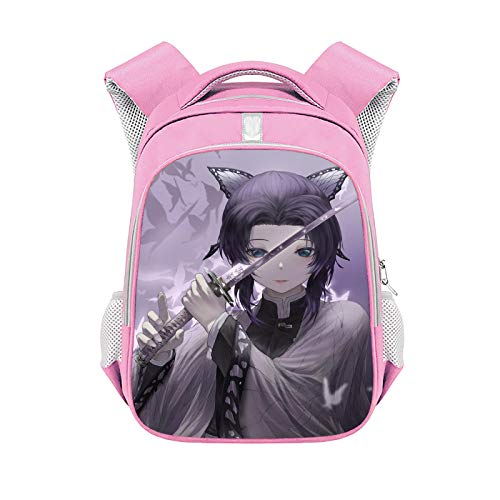 Lexue School Backpack,Anime School Bag,Light Backpack,Student Rucksack,Waterproof Backpack,Suitable for School/Girl/Boy,Pink 15