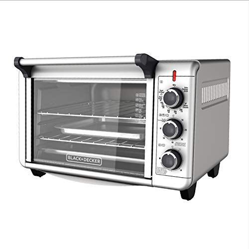 BLACK+DECKER TO3000G 6-Slice Convection Countertop Toaster Oven - Silver (Black And Decker Extra Wide Convection Oven)