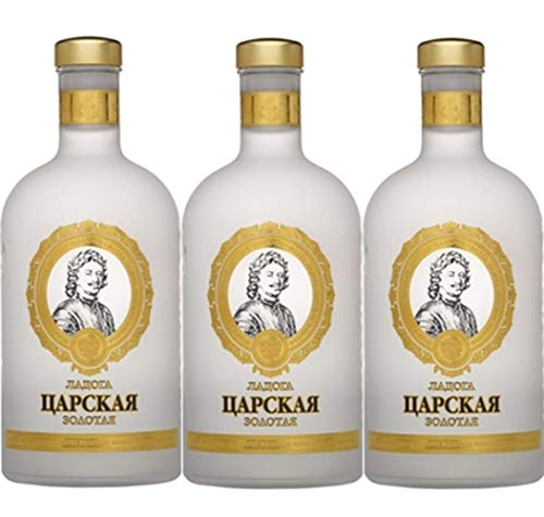 Vodka Ladoga Zarskaja Gold 1L SPARSETS russischer Wodka (3)