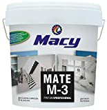 Macy Pintura Plástica Mate M-3 Antimoho para Interior y Exterior con Conservante Antimoho. 4 Litros. Color Blanco