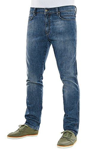 Reell Jeans Pants Men Nova Tapered Fit, Mid Blue Flow 31/34 Artikel-Nr.1100-1031