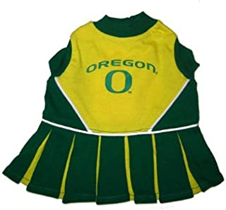 NCAA Oregon Ducks Yellow-Green Pet Cheer Dress