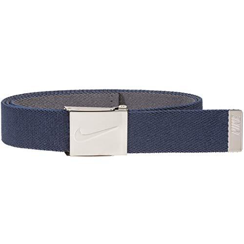 Nike Men's Reversible Stretch Web Belt, Navy/Grey, One Size