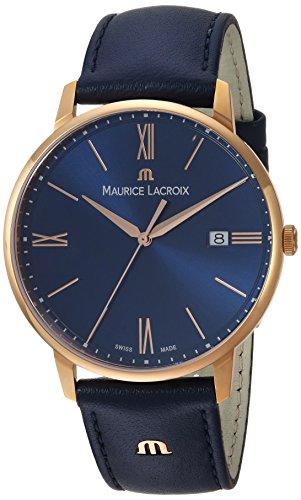 Maurice Lacroix Reloj Analógico para Hombre de Cuarzo con Correa en Cuero EL1118-PVP01-411-1
