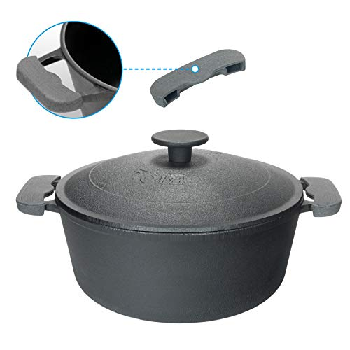 3L Kochtopf aus Gusseisen mit Deckel Metalldeckel Bräter Schmortopf Induktion