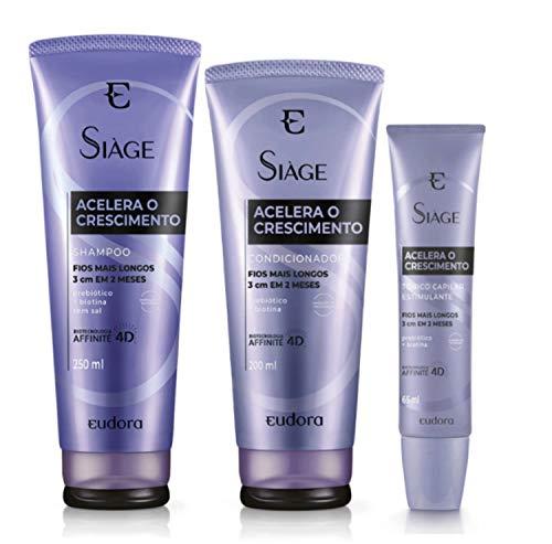 Kit Siàge Acelera O Crescimento Shampoo Eudora
