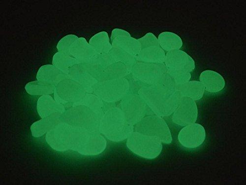 Pierres lumineuses décoratives 250 g env. 80 pierres Blanc/Vert 1,5–3,0 cm