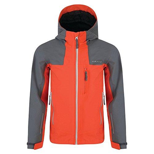 Dare2b Resonance II Jacket trail blaze aluminium grey Kinder Regenjacke (116)