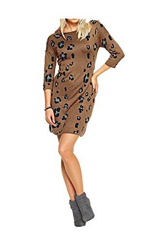 Heine - Best Connections Damen-Kleid Strickkleid mit Steinen Mehrfarbig Größe 40