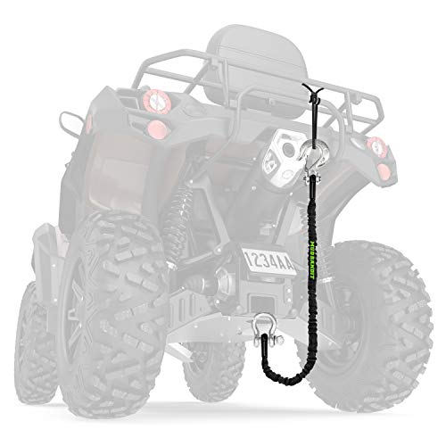 Mud Bandit ATV Recovery Strap with Winch Hook and D Ring Shackle, Tow Rope for Four Wheeler, Quad, 9000lb Synthetic Rope with Loops, Premium Mudding Accessories