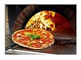 Tableau imprimé sur toile 70 x 50 cm, impression haute qualité, photographique intégrée, design moderne, décoration sur le thème pizza ronde et à couper, salons, cuisine, restaurant, pizzeria