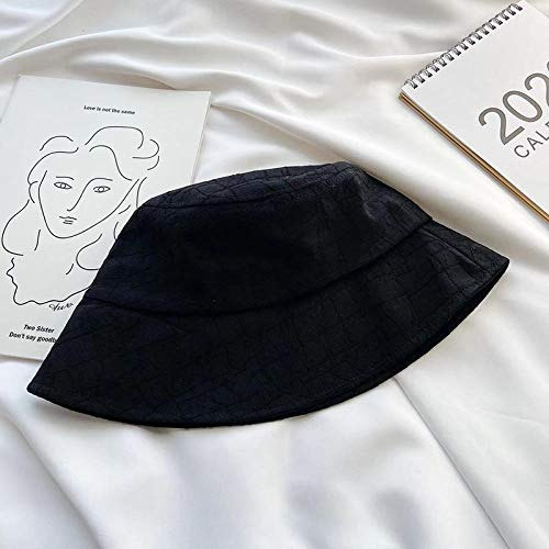 Basin hoed Vrouwelijke Tide Lente en Zomer Ademende Fisherman hoed Vouwen Zonnebrandcrème hoed One size (56-58cm) Zwart