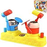 FDSAF Angry Little Man Attack Vs Toy, Juegos Ofensivos Y Defensivos De Dos Jugadores PK Head Knocker, Juguetes Interactivos Entre Padres E Hijos, para 2 Jugadores
