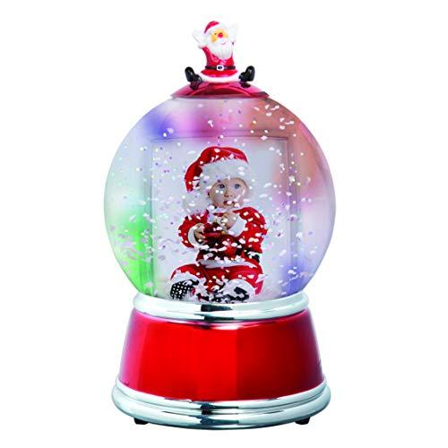 Santa Photo Snow Globe (Silver and Red)