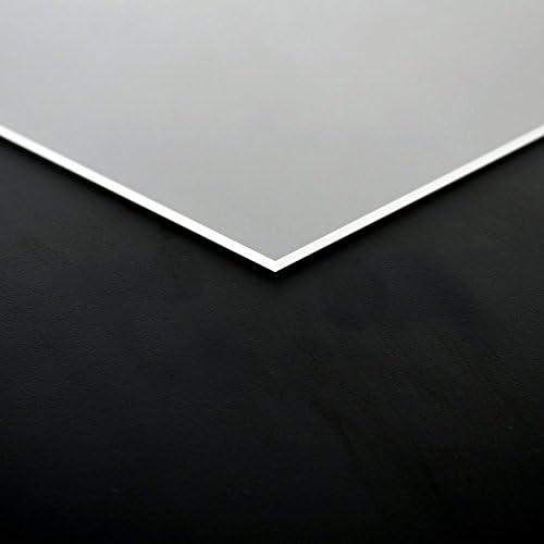 8mm PLEXIGLAS/® Platte 50x50 cm schwarz opak