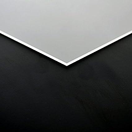 3mm PLEXIGLAS/® Platte 100x100 cm schwarz opak
