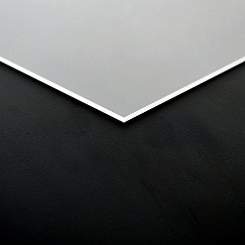 3mm PLEXIGLAS® Platte 25x25 cm satiniert Milchglas