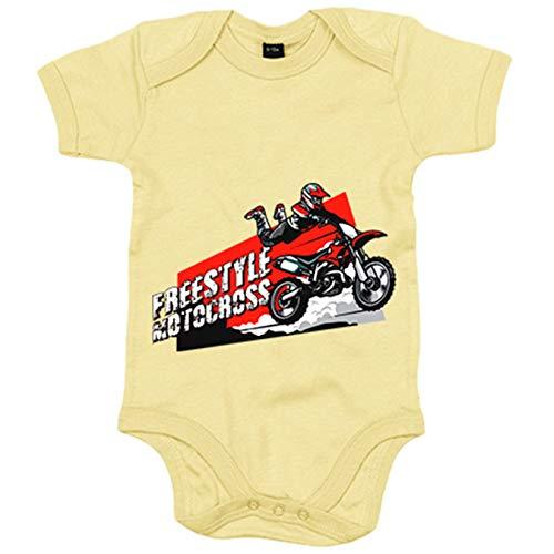 Body bebé Motocross Freestyle Superman Jump - Amarillo, 12-