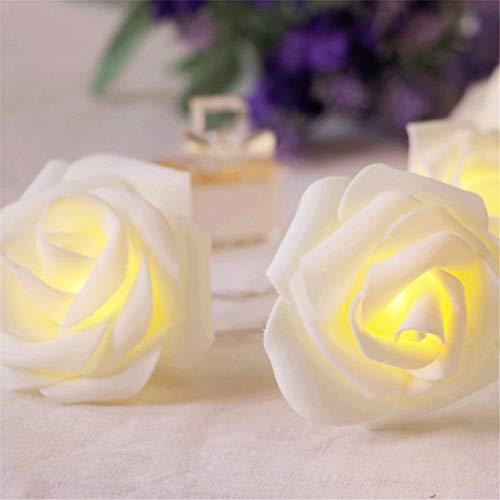 Led Rose Flower Lichterketten Batteriebetrieben Für Hochzeit Home Party Geburtstag Festival Indoor Outdoor Dekorationen Rose Weihnachtsdekoration