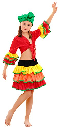 Boys Toys Disfraz de Rumbera Salsa Niña (10-12 años)