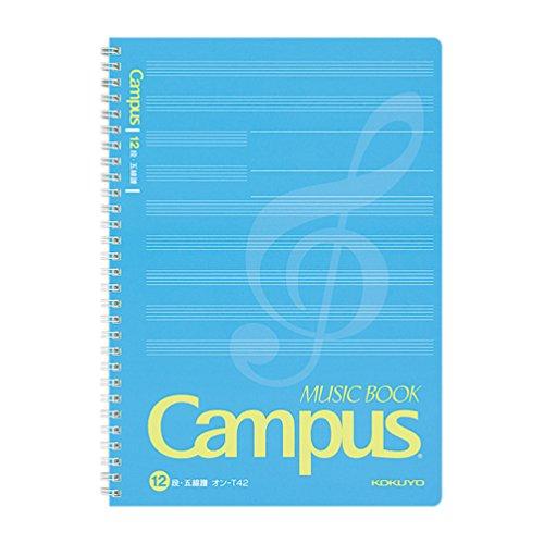 コクヨ ノート キャンパスノート 音楽帳 ツインリングとじ B5 5線譜 12段 50枚 オン-T42
