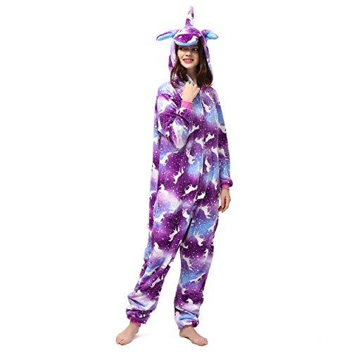 Katara 1744 Jumpsuit; onesie; cosplay; kostuum voor feestjes, carnaval, in vele kleuren en maten 1744 Körpergröße 145-155cm (S) Eenhoorn paars-bont
