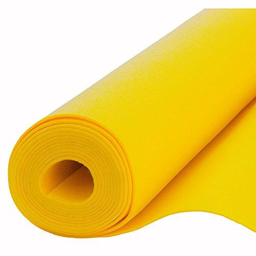 Filz, Filzstoff, Dekorationsfilz, imprägniert, Breite 100 cm, Dicke 4 mm, Meterware 0,5 lfm - gelb